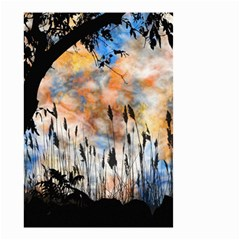 Landscape Sunset Sky Summer Small Garden Flag (two Sides) by Nexatart