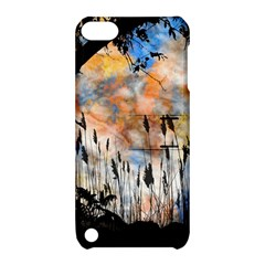 Landscape Sunset Sky Summer Apple Ipod Touch 5 Hardshell Case With Stand