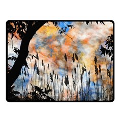 Landscape Sunset Sky Summer Double Sided Fleece Blanket (small)  by Nexatart