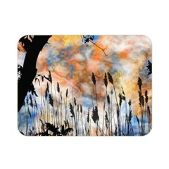 Landscape Sunset Sky Summer Double Sided Flano Blanket (mini)  by Nexatart