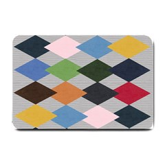 Leather Colorful Diamond Design Small Doormat