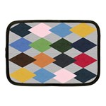 Leather Colorful Diamond Design Netbook Case (Medium)  Front