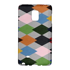 Leather Colorful Diamond Design Galaxy Note Edge by Nexatart