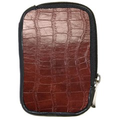 Leather Snake Skin Texture Compact Camera Cases by Nexatart