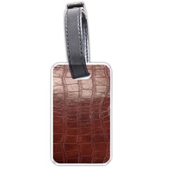 Leather Snake Skin Texture Luggage Tags (one Side)