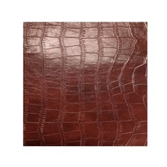 Leather Snake Skin Texture Small Satin Scarf (square) by Nexatart