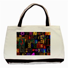 Letters A Abc Alphabet Literacy Basic Tote Bag (two Sides) by Nexatart