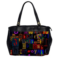 Letters A Abc Alphabet Literacy Office Handbags by Nexatart