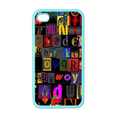Letters A Abc Alphabet Literacy Apple Iphone 4 Case (color) by Nexatart
