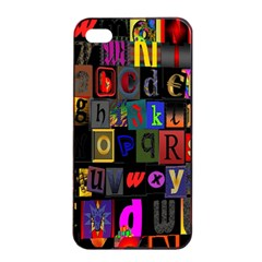 Letters A Abc Alphabet Literacy Apple Iphone 4/4s Seamless Case (black) by Nexatart
