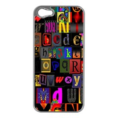 Letters A Abc Alphabet Literacy Apple Iphone 5 Case (silver)