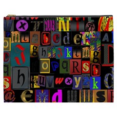 Letters A Abc Alphabet Literacy Cosmetic Bag (xxxl)  by Nexatart