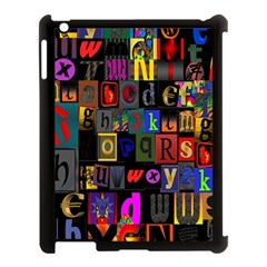 Letters A Abc Alphabet Literacy Apple Ipad 3/4 Case (black)
