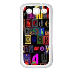 Letters A Abc Alphabet Literacy Samsung Galaxy S3 Back Case (white) by Nexatart