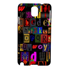 Letters A Abc Alphabet Literacy Samsung Galaxy Note 3 N9005 Hardshell Case by Nexatart