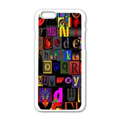 Letters A Abc Alphabet Literacy Apple Iphone 6/6s White Enamel Case by Nexatart
