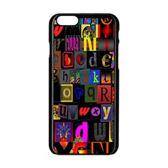 Letters A Abc Alphabet Literacy Apple Iphone 6/6s Black Enamel Case by Nexatart
