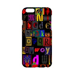 Letters A Abc Alphabet Literacy Apple Iphone 6/6s Hardshell Case by Nexatart