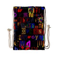 Letters A Abc Alphabet Literacy Drawstring Bag (small) by Nexatart