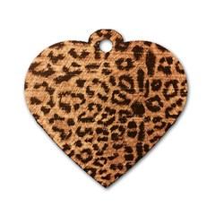 Leopard Print Animal Print Backdrop Dog Tag Heart (one Side)