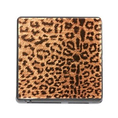 Leopard Print Animal Print Backdrop Memory Card Reader (square) by Nexatart