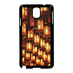 Light Art Pattern Lamp Samsung Galaxy Note 3 Neo Hardshell Case (black) by Nexatart