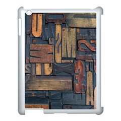 Letters Wooden Old Artwork Vintage Apple Ipad 3/4 Case (white)