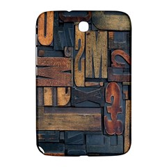 Letters Wooden Old Artwork Vintage Samsung Galaxy Note 8 0 N5100 Hardshell Case  by Nexatart