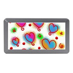 Love Hearts Shapes Doodle Art Memory Card Reader (mini)