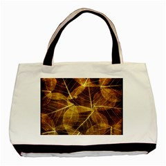 Leaves Autumn Texture Brown Basic Tote Bag (two Sides) by Nexatart