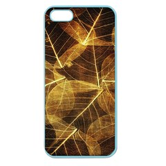 Leaves Autumn Texture Brown Apple Seamless Iphone 5 Case (color) by Nexatart