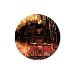 Locomotive Magnet 3  (round) by Nexatart