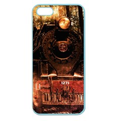Locomotive Apple Seamless Iphone 5 Case (color) by Nexatart