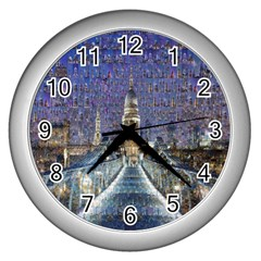 London Travel Wall Clocks (silver)  by Nexatart