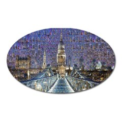 London Travel Oval Magnet