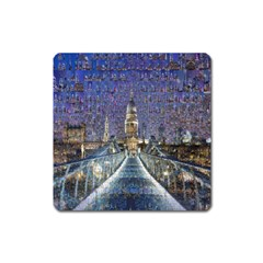 London Travel Square Magnet
