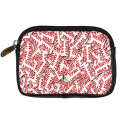 Merry Christmas Xmas Pattern Digital Camera Cases by Nexatart