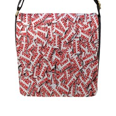 Merry Christmas Xmas Pattern Flap Messenger Bag (l)  by Nexatart