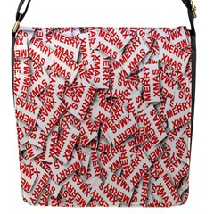 Merry Christmas Xmas Pattern Flap Messenger Bag (s) by Nexatart