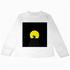 Moon And Dragon Dragon Sky Dragon Kids Long Sleeve T Shirts by Nexatart