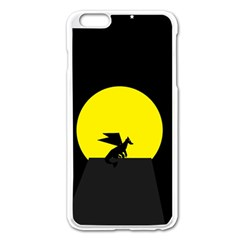 Moon And Dragon Dragon Sky Dragon Apple Iphone 6 Plus/6s Plus Enamel White Case by Nexatart
