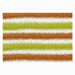 Metallic Gold Glitter Stripes Large Glasses Cloth