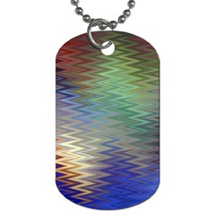 Metallizer Art Glass Dog Tag (two Sides)