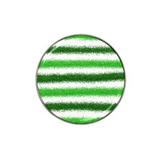 Metallic Green Glitter Stripes Hat Clip Ball Marker (4 Pack) by Nexatart