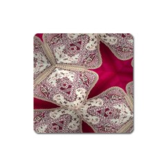 Morocco Motif Pattern Travel Square Magnet by Nexatart