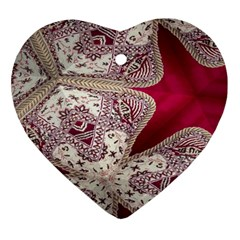 Morocco Motif Pattern Travel Heart Ornament (two Sides) by Nexatart
