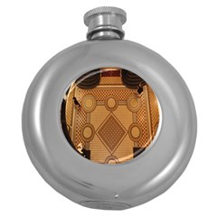 Mosaic The Elaborate Floor Pattern Of The Sydney Queen Victoria Building Round Hip Flask (5 Oz) by Nexatart