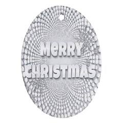 Oints Circle Christmas Merry Ornament (oval) by Nexatart