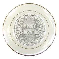 Oints Circle Christmas Merry Porcelain Plates