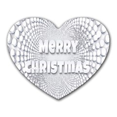 Oints Circle Christmas Merry Heart Mousepads by Nexatart
